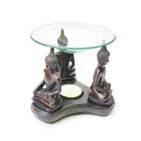 Аромалампа Три Будды из полистоуна со стеклянной чашей