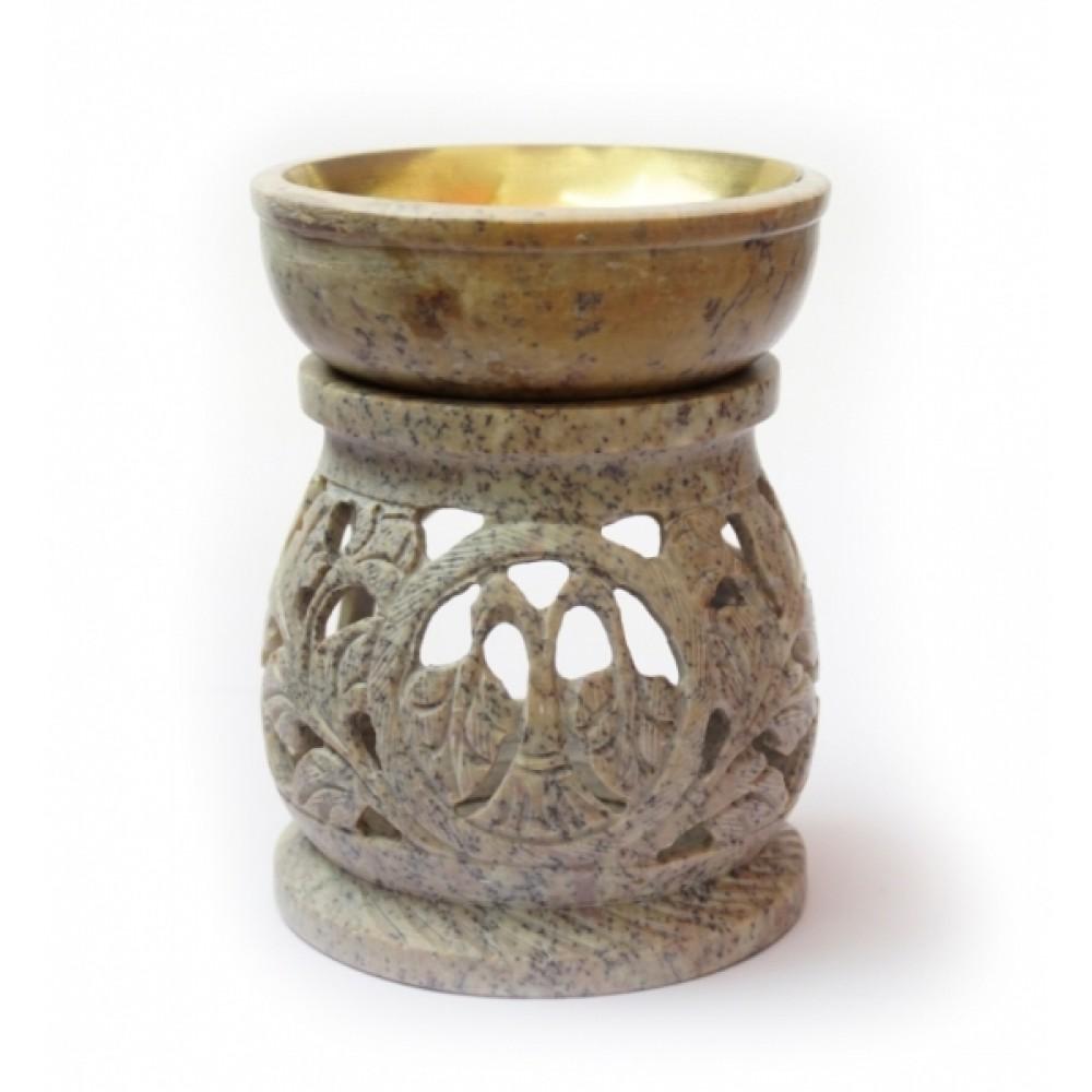 Аромалампа каменная круглая №2