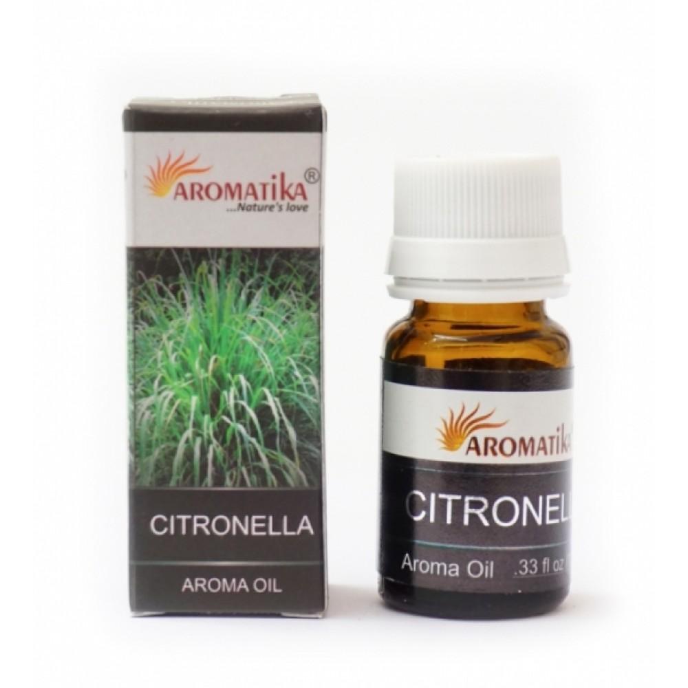 Эфирное масло Цитронелла Aromatika Oil Citronella 10ml.