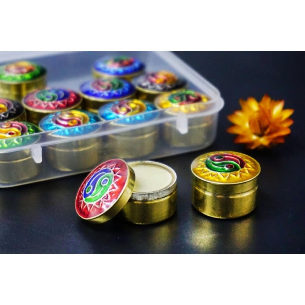 Сухие духи Мускатный Шалфей в металлической баночке Индия