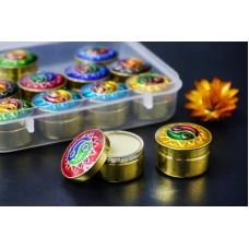 Сухие духи Сандал в металлической баночке Индия