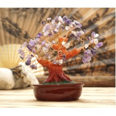 Дерево Счастья с камнями Аметист 21 см