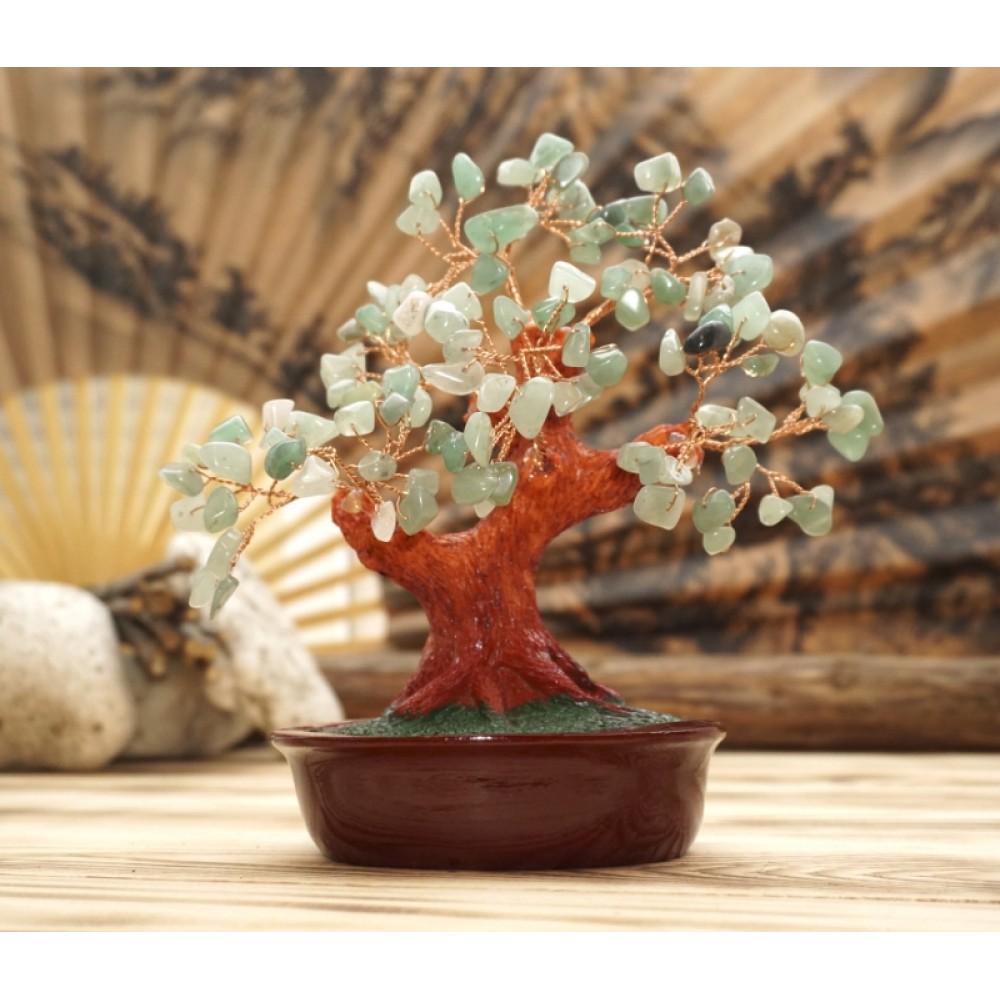 Дерево Счастья с камнями Хризолит 21 см