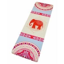 """Коврик для йоги """"Слон на бежевом"""""""