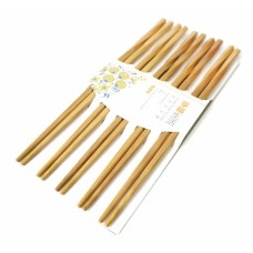 Палочки для еды бамбук витые в блистере набор 5 пар