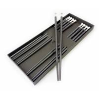 Палочки для еды эбонитовые чёрные набор 5 пар №3
