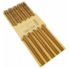 Палочки для еды деревянные, для суши комплект из пяти пар №23