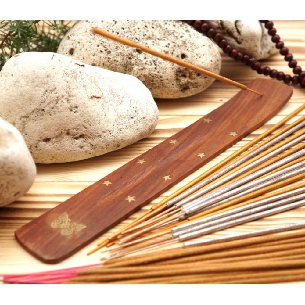 Подставка для аромапалочек деревянная ЛЫЖА Бабочка