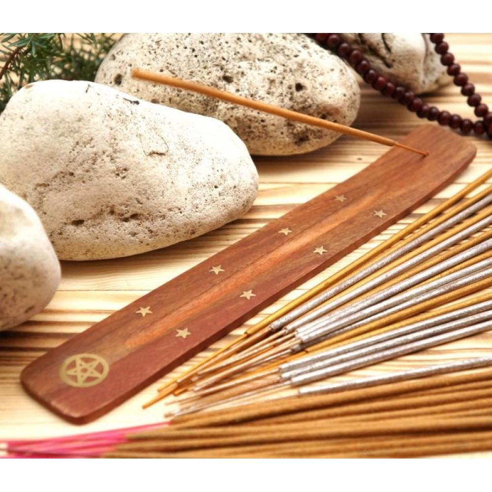 Подставка для аромапалочек деревянная ЛЫЖА Звезда в круге