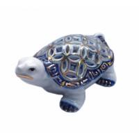 Черепаха с монетным панцирем Фаянс Синяя