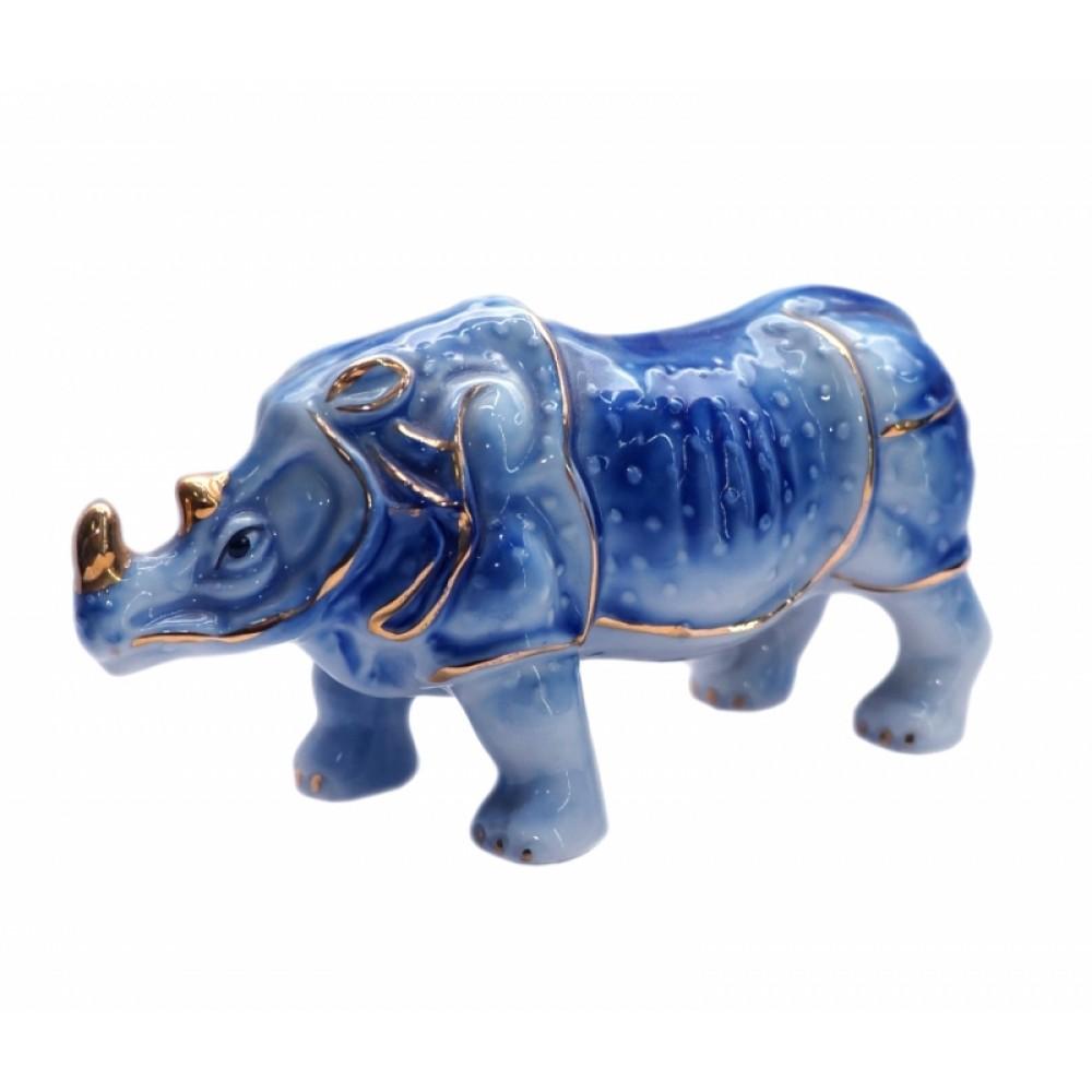 Носорог синий фаянс