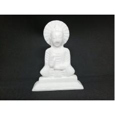 Статуэтка Будда белый мрамор, ручная работа 10 см