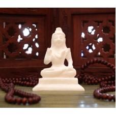 Статуэтка Шива белый мрамор ручная работа 10 см