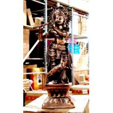 """Статуя """"Дутая"""" Силуминовая Кришна"""
