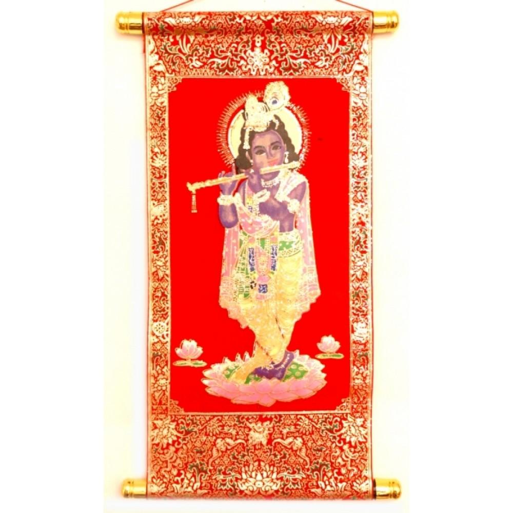 Свиток настенный Кришна с флейтой