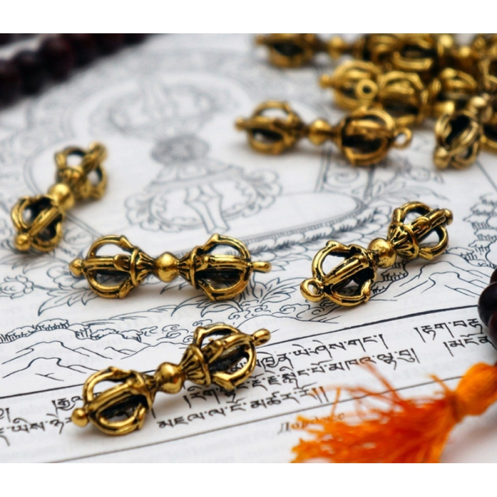 Кулон Ваджра четыре лепестка бронза