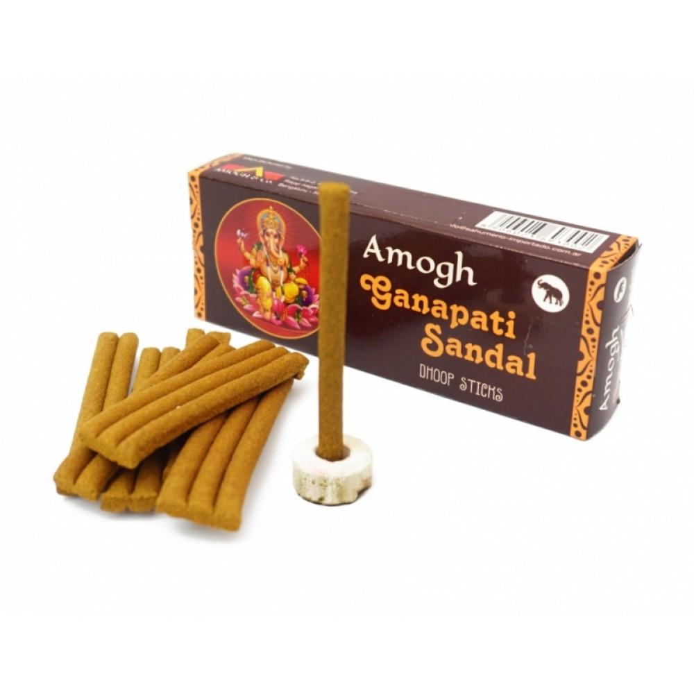 Аромапалочки безосновные Ганапати Сандал Amogh dhoop Ganapati Sandal