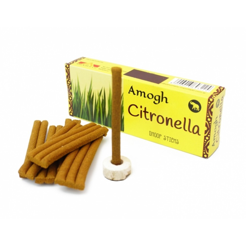 Аромапалочки Цитронелла Amogh dhoop Citronella (безосновные)