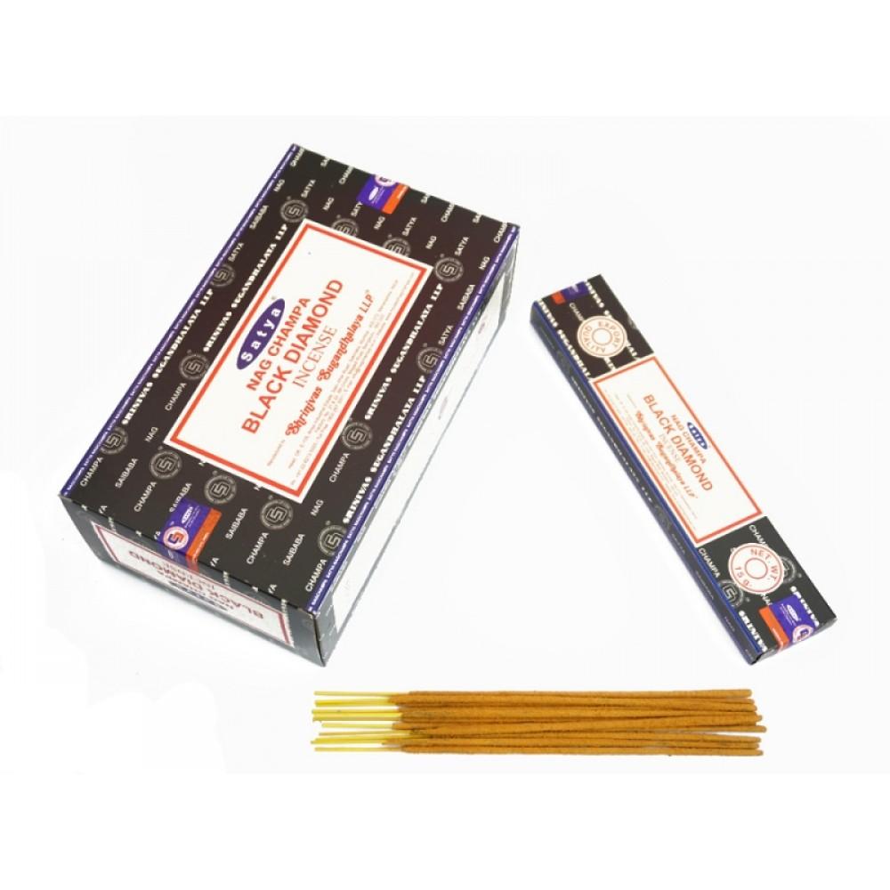Аромапалочки натуральные индийские благовония Чёрный бриллиант Сатья