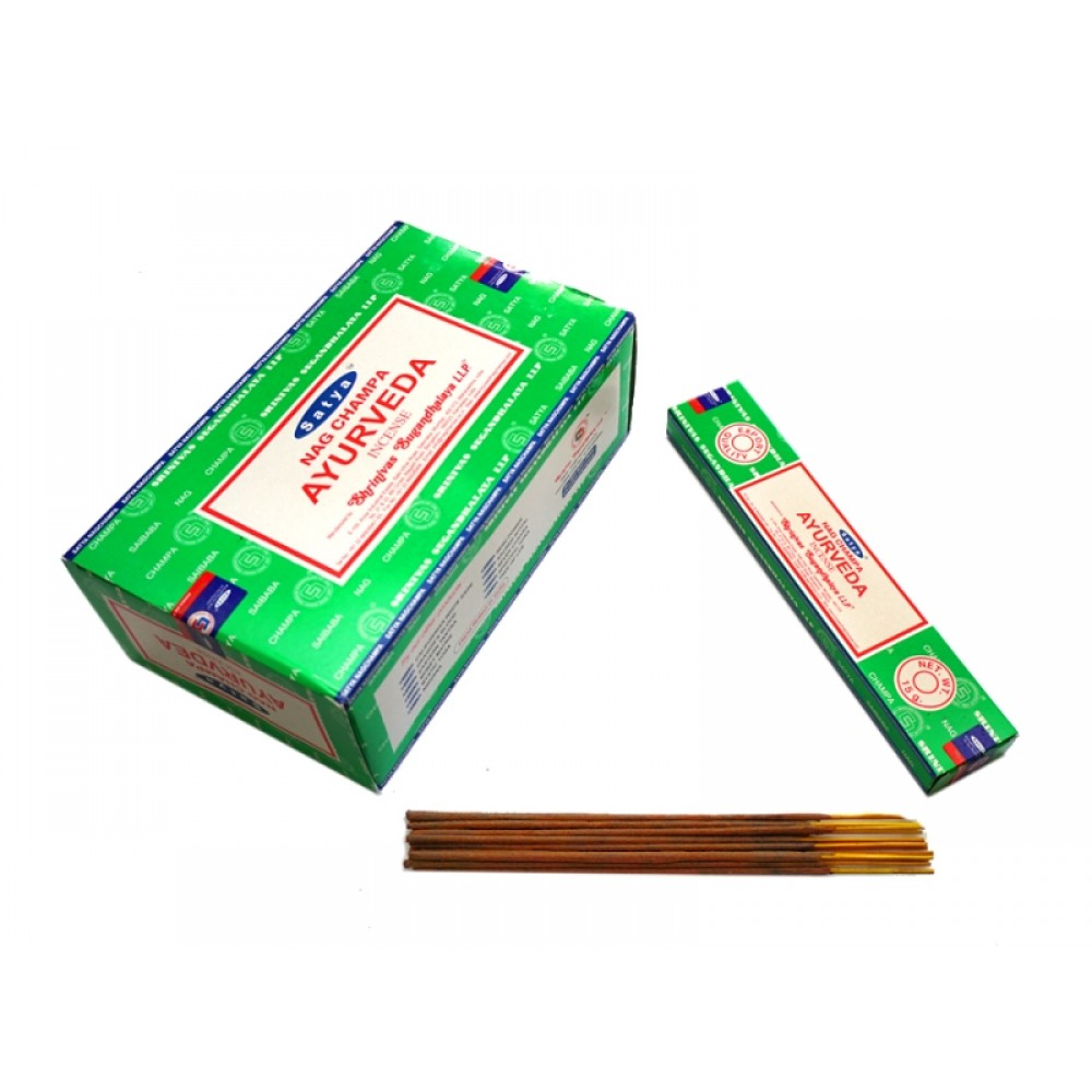Аромапалочки натуральные Аюрведа Сатья Satya Ayurveda 15 грамм
