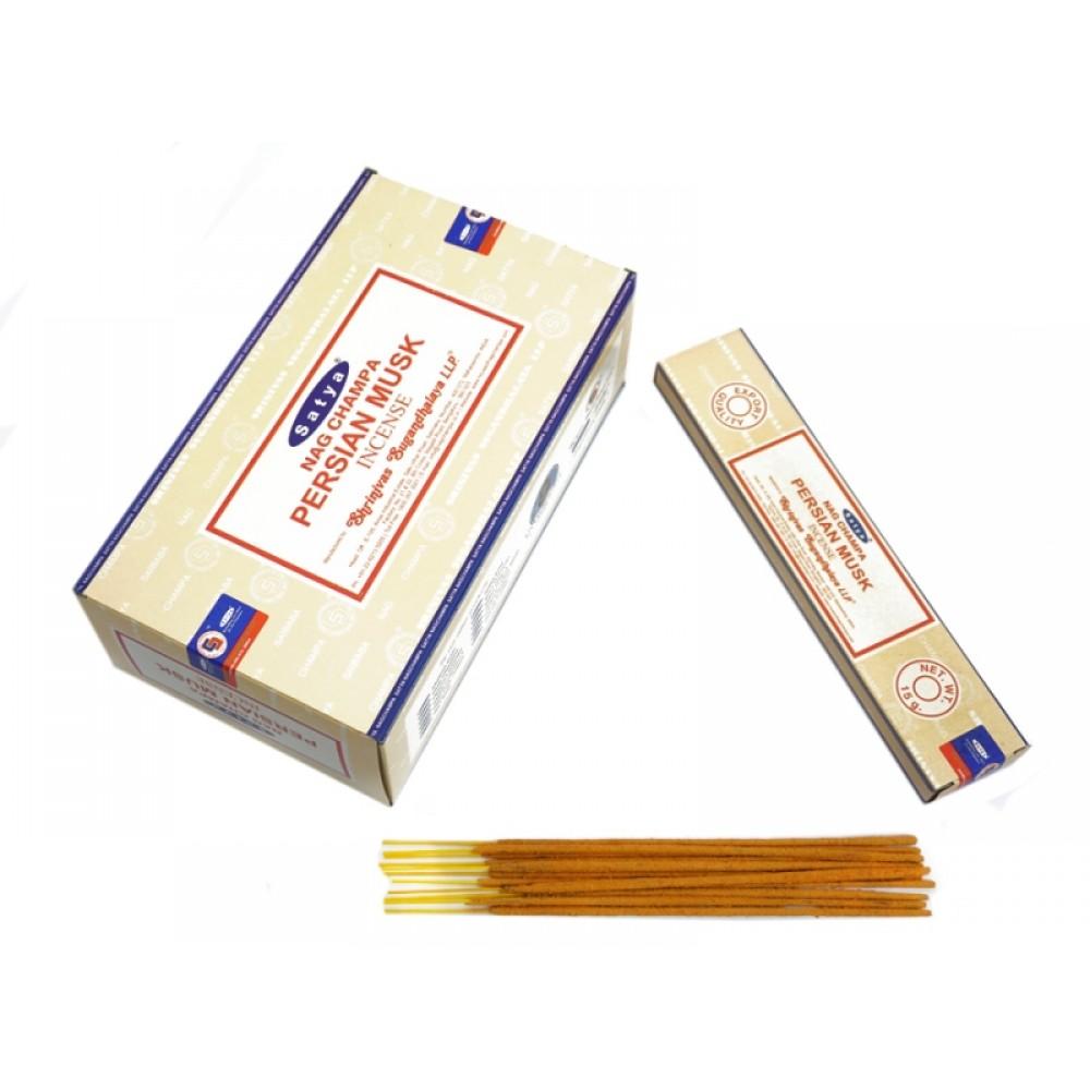 Аромапалочки Сатья Персидский Муск натуральные пыльцевые  Satya 15 грамм