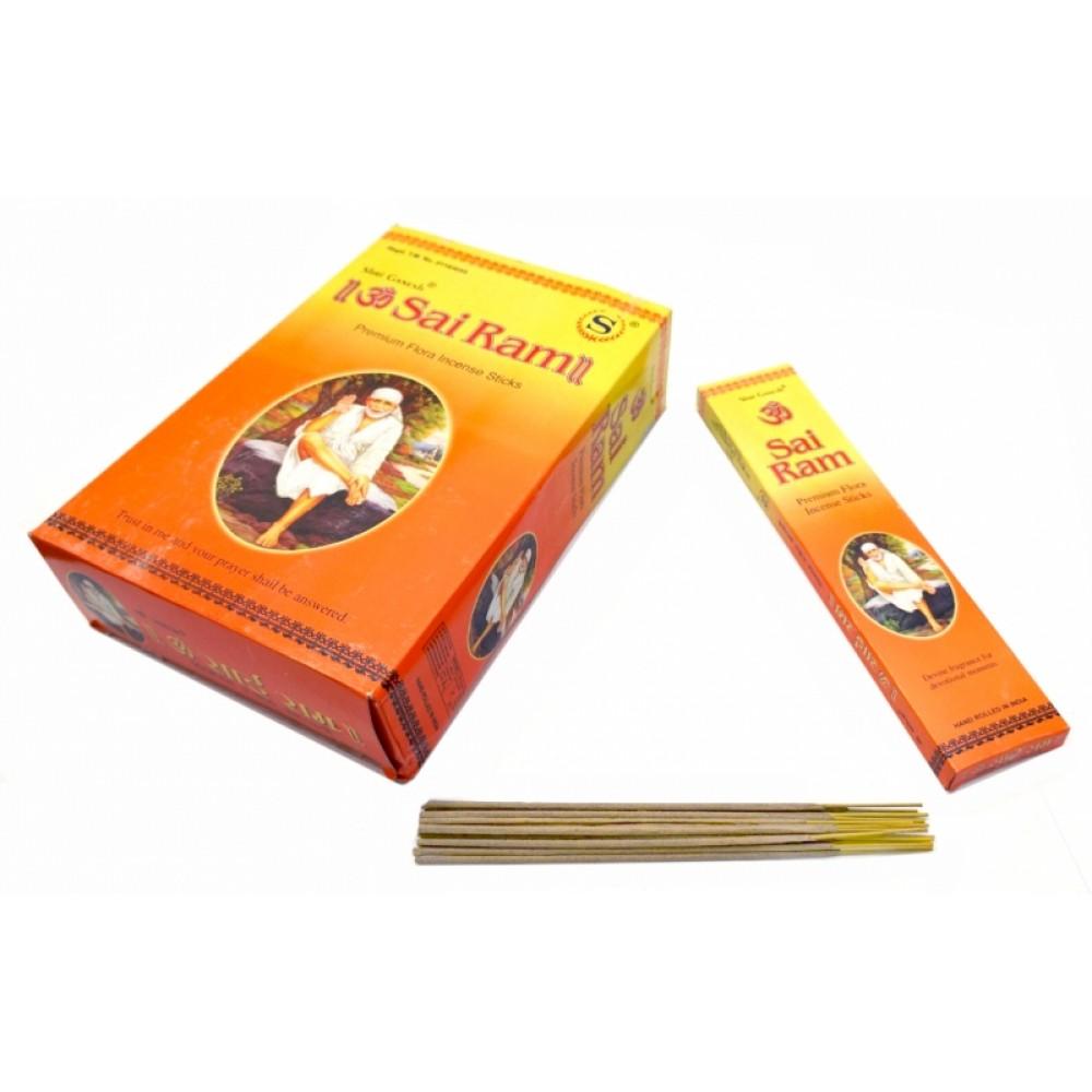 Аромапалочки пыльцевые Ом Сай Рам Шри Ганеш Shri Ganesh Om Sai Ram