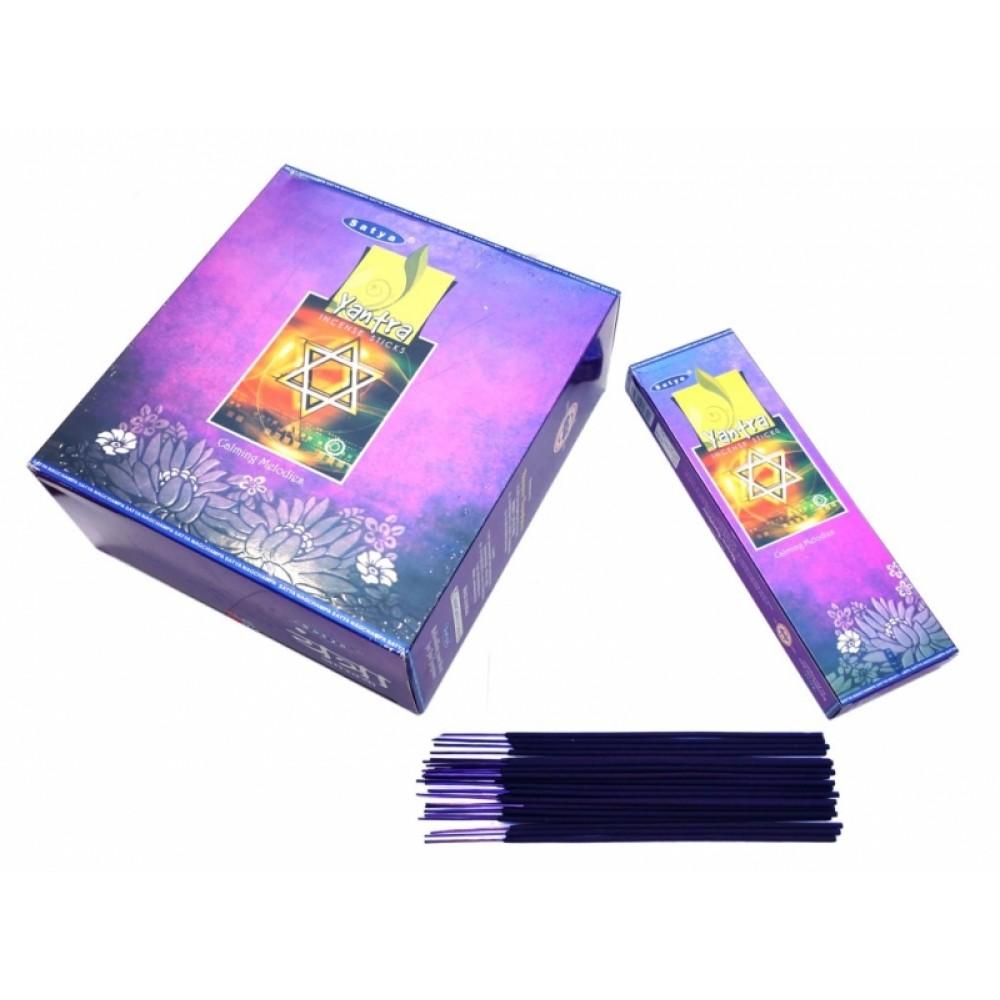 Ароматические палочки Сатья Янтра Satya Yantra 50 грамм упаковка