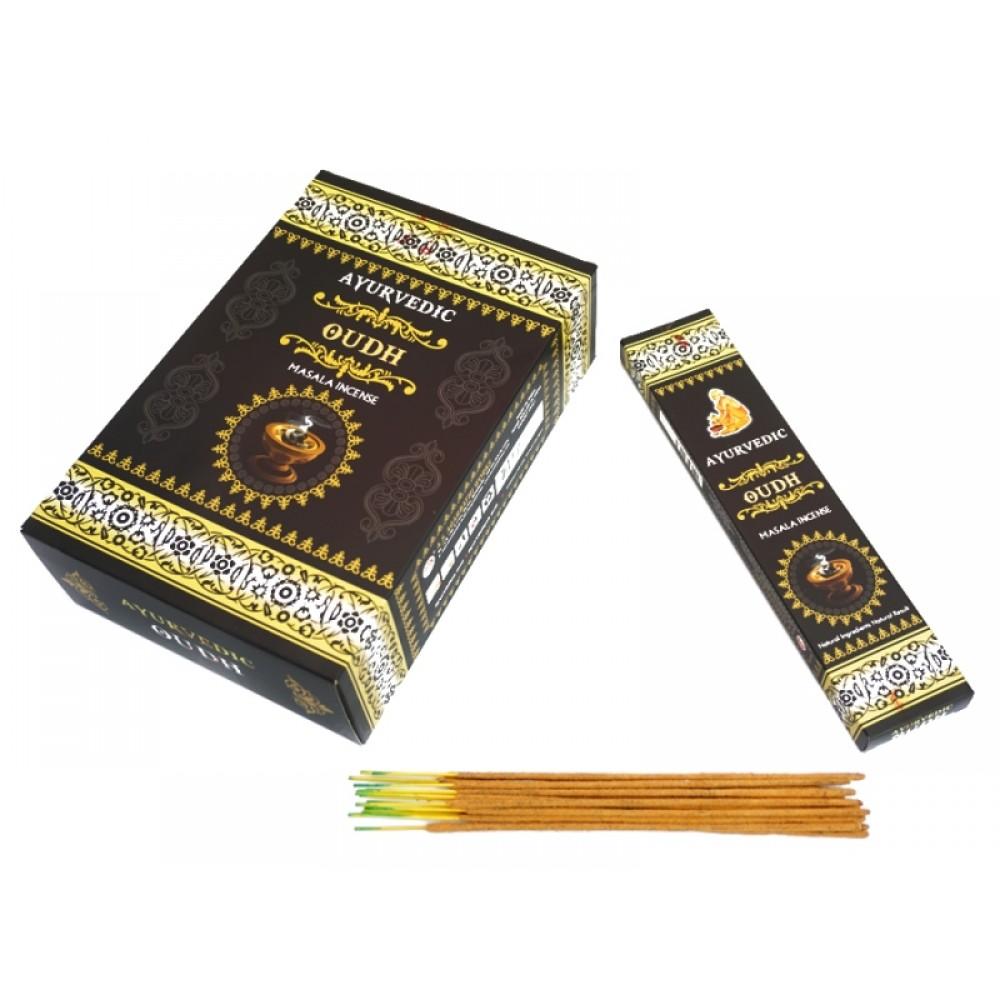 Аромапалочки натуральные Ayurvedic Oudh 20 грамм