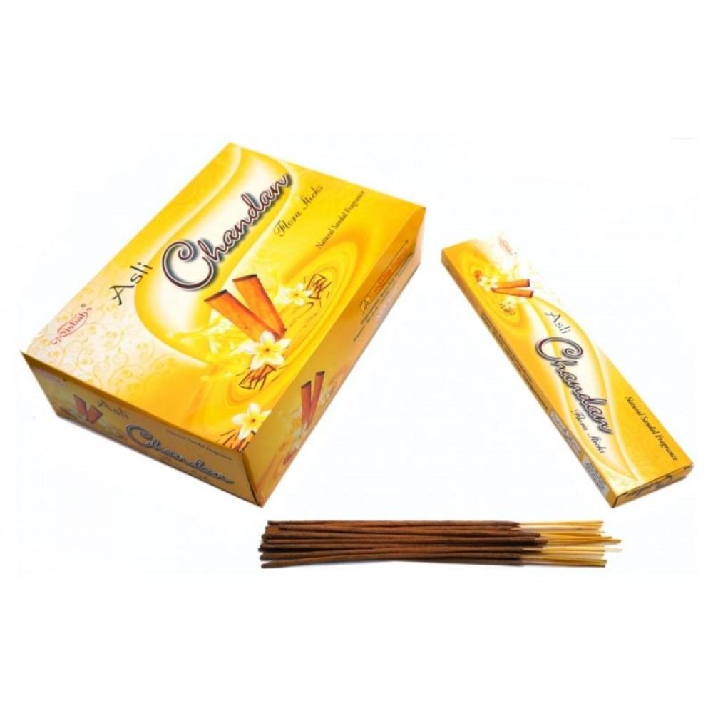 Ароматические палочки пыльцевые Сандал Misbah Asli Chandan