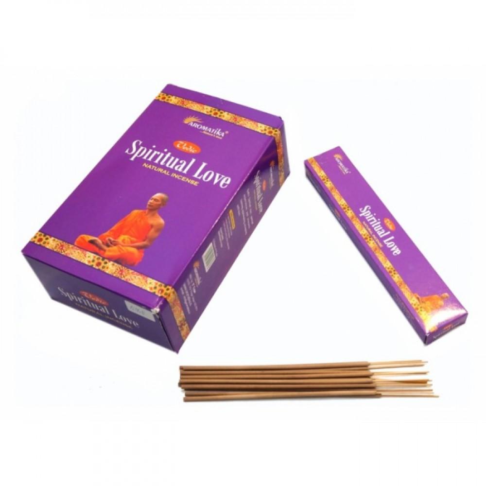 Благовония натуральные индийские аромапалочки Ведическая Духовная Любовь Aromatika Vedic Spiritual Love