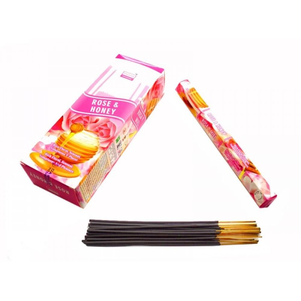 Ароматические палочки Darshan ROSE & HONEY Роза с мёдом
