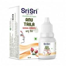 Капли для носа и ушей Ану Тайла, 10 мл, производитель Шри Шри Таттва; Any Taila Nasal Drop, 10 ml, Sri Sri Tat