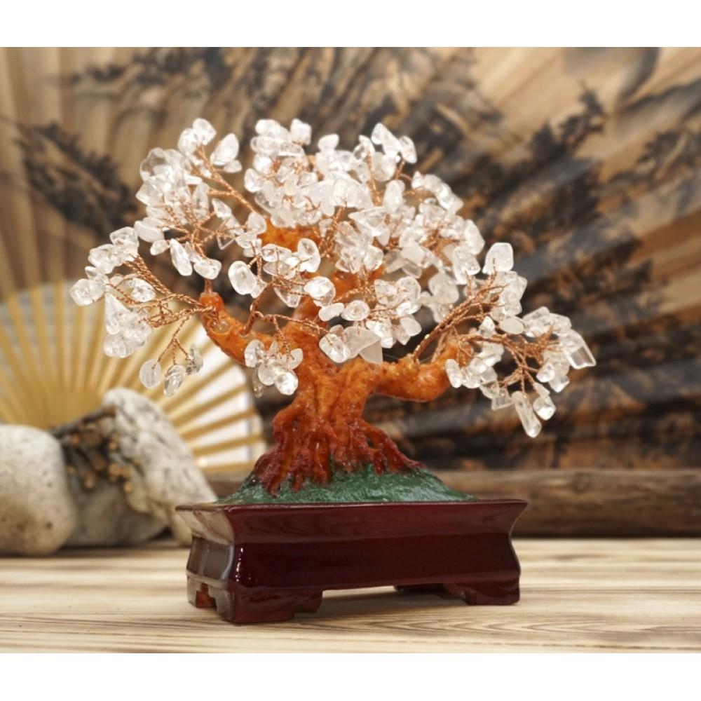 Дерево Счастья с камнями Горный хрусталь 22,5 см