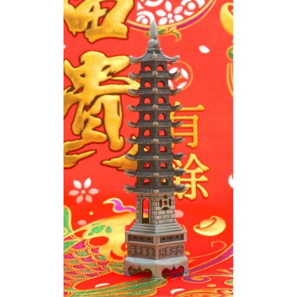 Пагода 9 ярусов силумин в сером цвете
