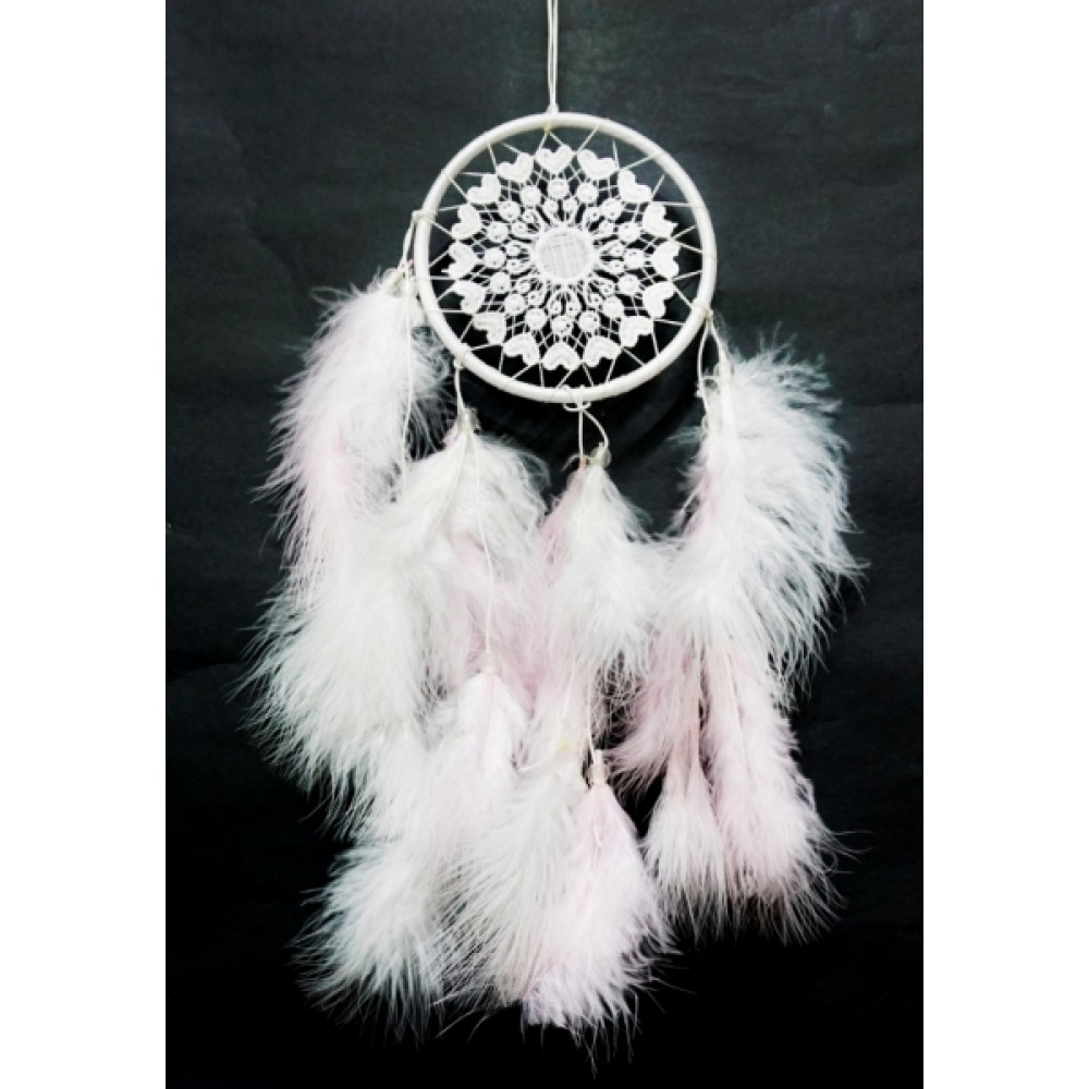 Ловец снов 1 кольцо Светло розовый
