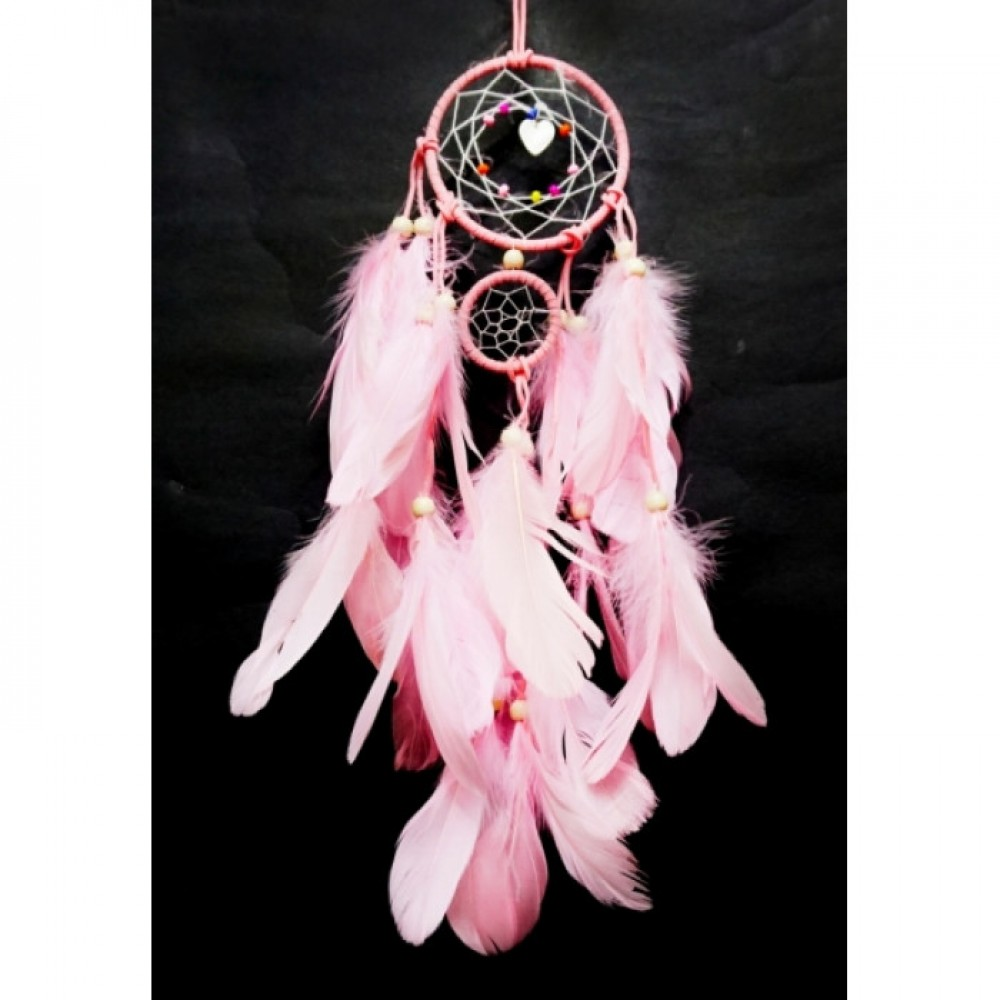 Ловец снов 2 кольца Розовый