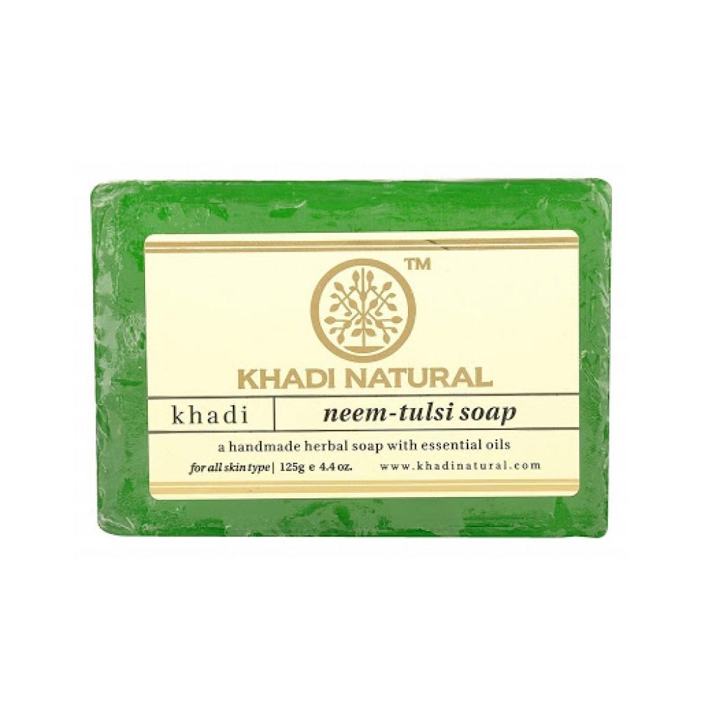 Натуральное аюрведическое мыло Ним Тулси Кхади 125 г Khadi Neem Tulsi soap
