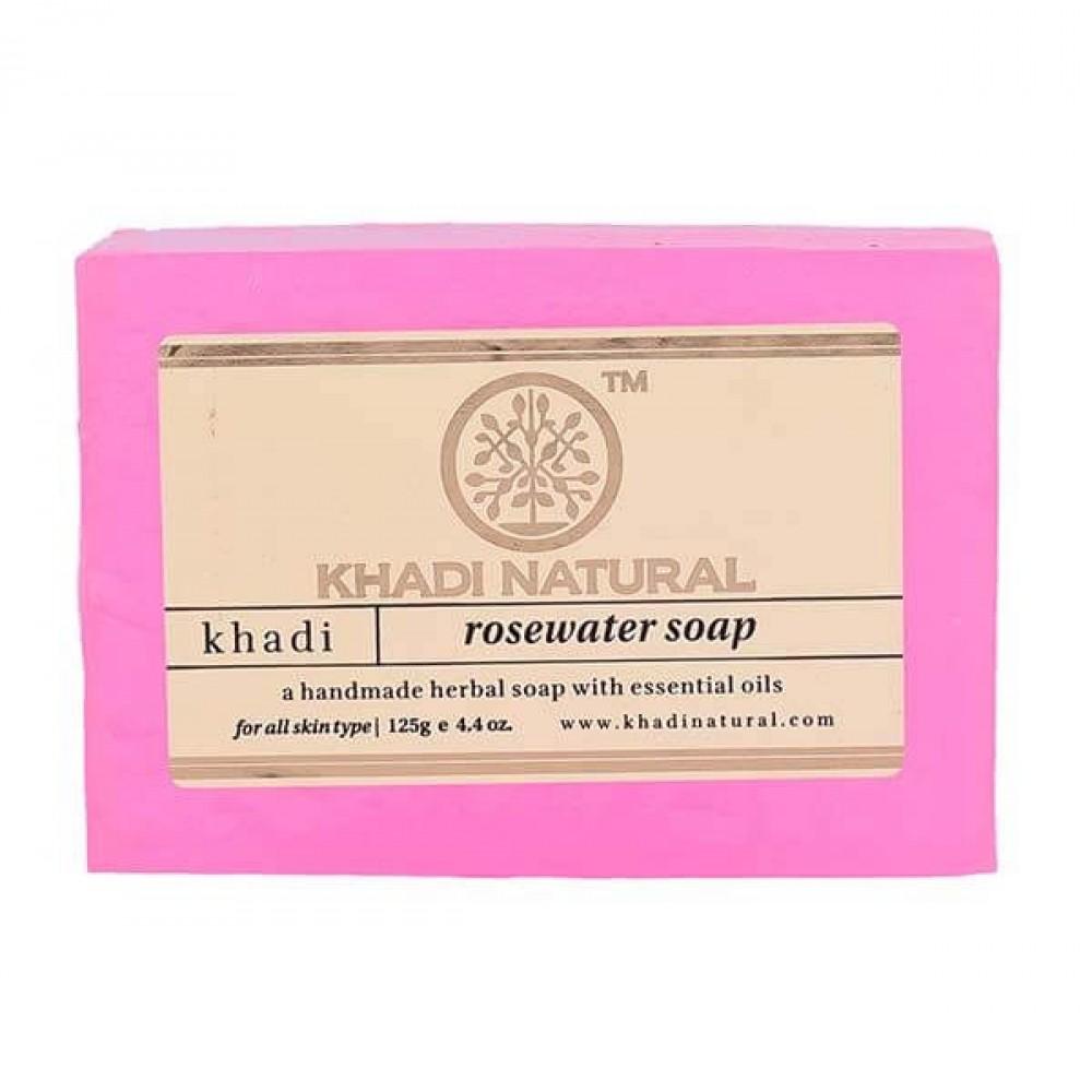 """Натуральное аюрведическое мыло """"Розовая вода"""" Кхади 125 г Khadi Rose Water Soap"""