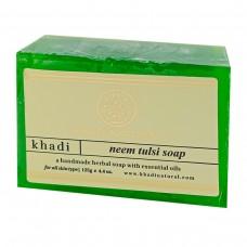 Натуральное аюрведическое мыло Ним Кхади 125 г. Neem soap khadi natural
