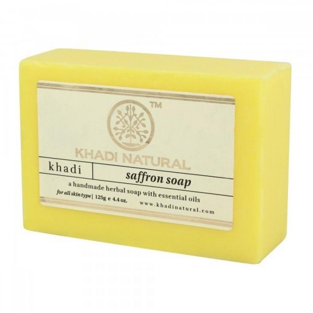 Натуральное аюрведическое мыло Кхади Шафран 125 г Khadi Saffron soap