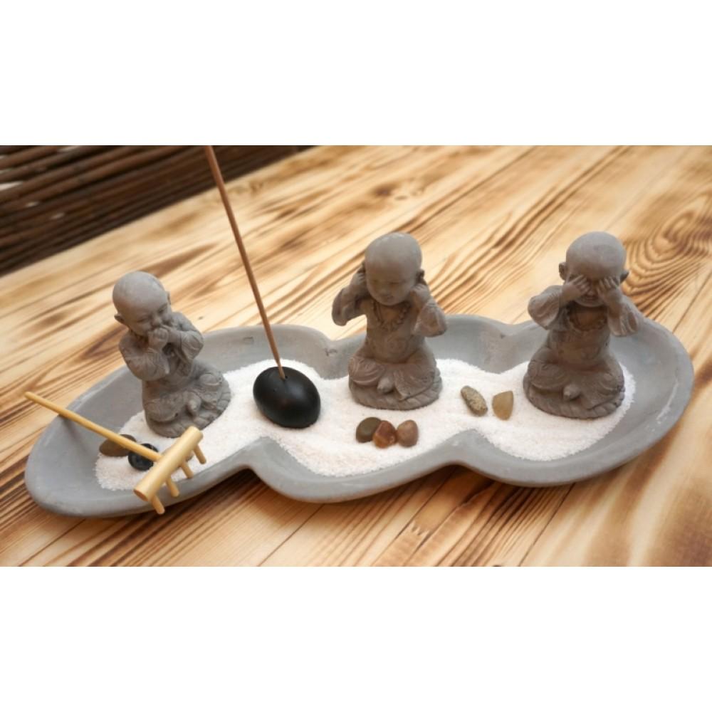 """Дзен набор """"Сад камней"""" Три монаха №2"""