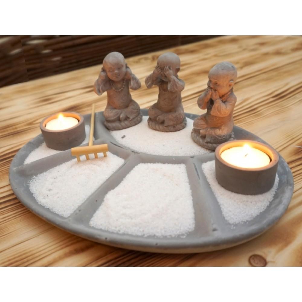 Дзен набор 'Сад камней' Три монаха №1