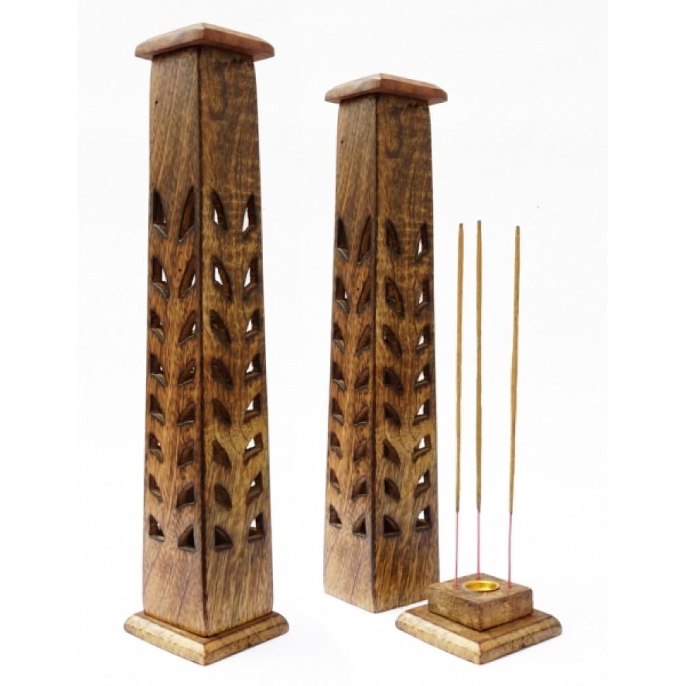 Подставка для аромапалочек 'Башня' из дерева манго
