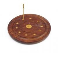 Подставка для аромапалочек деревянная Тарелка Солнце
