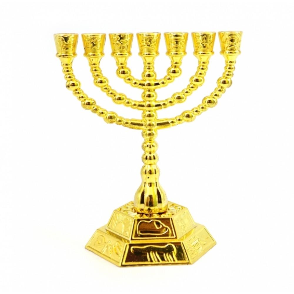 Подсвечник Менора латунный на 7 свечей №2