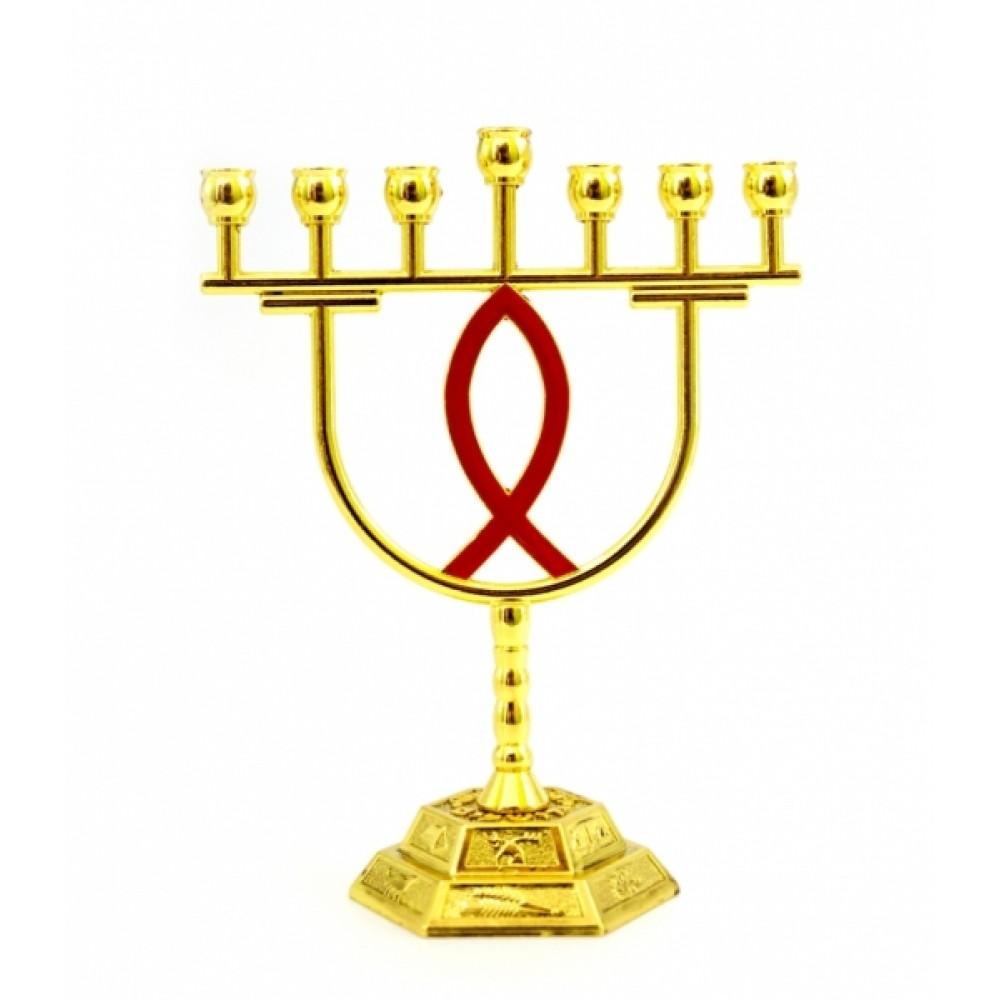 Подсвечник Менора латунный на 7 свечей №3