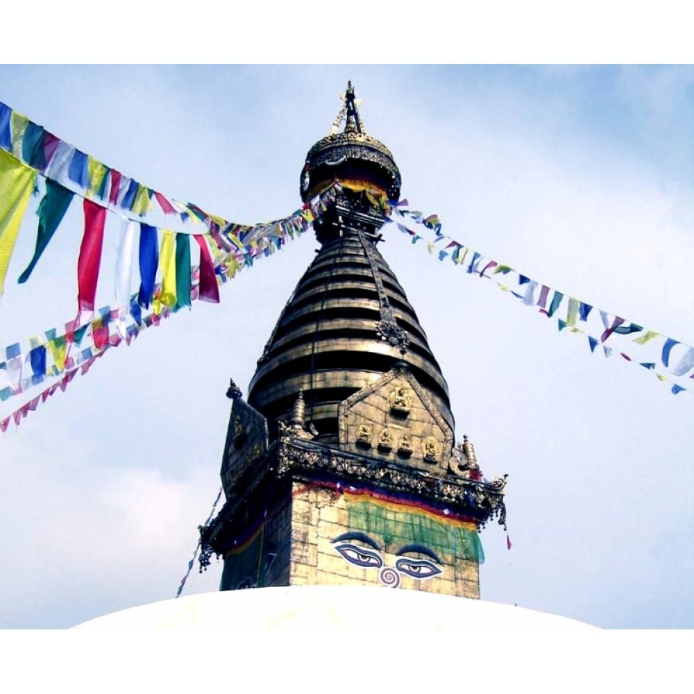 Тибетские флажки ЛУНГ-ТА 153см. 10 флажков