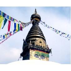 Тибетские флажки ЛУНГ-ТА 145 см. 5 флажков