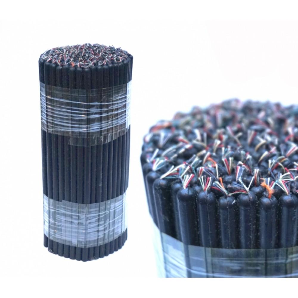 Свечи восковые магические пучек 1 кг. Чёрные