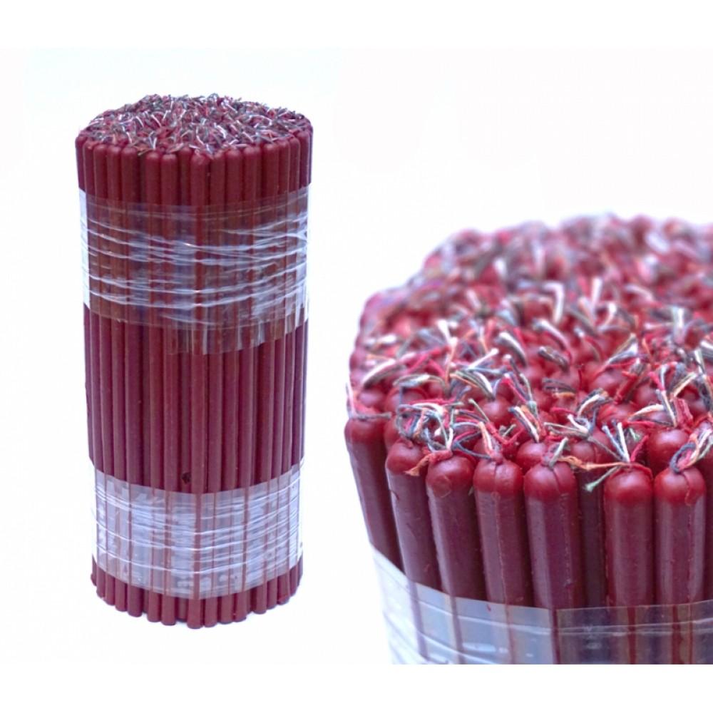 Свечи восковые магические пучек 1 кг. Красные